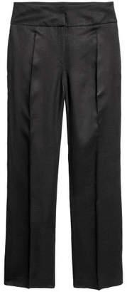H&M Linen-blend Suit Pants - Black