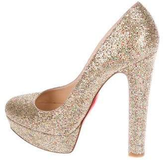 Christian Louboutin Bibbi 140 Glitter Pumps