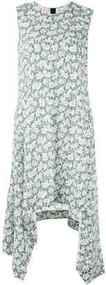 Marni asymmetric hem floral dress