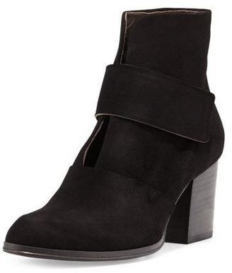 Coclico Oju Suede Ankle Boot, Black $440 thestylecure.com