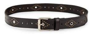 Fashion Focus Eyelet Studded Leather Belt