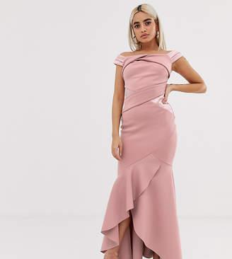d163cd44a094 Bardot Lipsy Petite maxi dress with ruffle wrap front