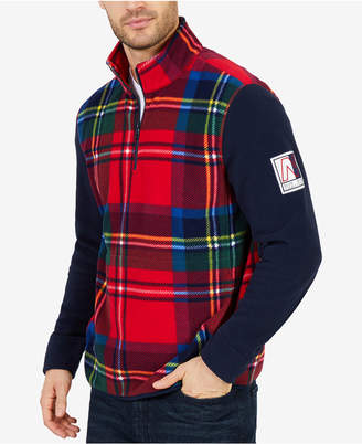 Nautica Men's Blue Water Challenge Plaid Nautex Sweatshirt
