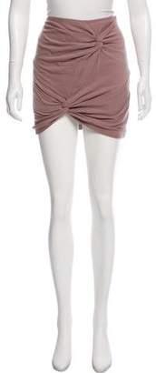 Tibi Knotted Mini Skirt