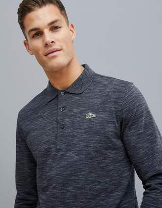 Lacoste Sport long sleeve polo in gray