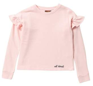 7 For All Mankind Ruffle Sweatshirt (Big Girls)