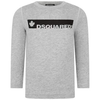 DSQUARED2 Dsquared2Baby Boys Grey Logo Jersey Top