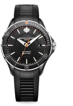 Baume & Mercier Clifton Club 10339 Stainless Steel& Rubber Strap Watch