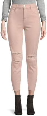 J Brand Women's Alana Photoready Distressed Frayed Hem Cropped Skinny Jeans
