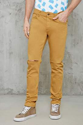 Forever 21 Raw-Cut Slim-Fit Jeans