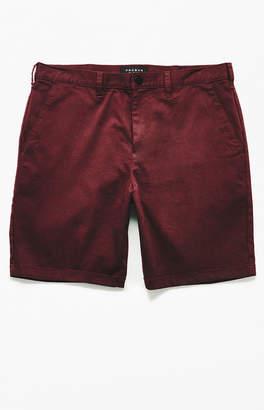 PacSun Burgundy Slim Fit Chino Shorts
