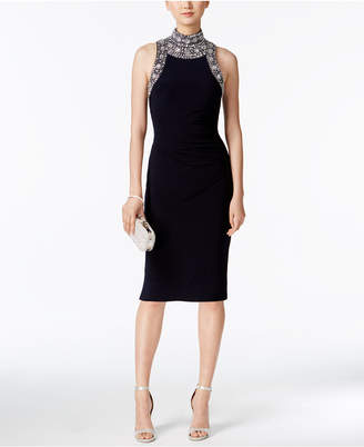Betsy & Adam Embellished Mock-Neck Dress $239 thestylecure.com