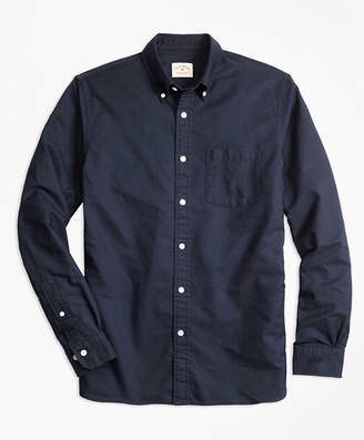 Brooks Brothers Solid Oxford Polo Button-Down Shirt