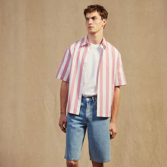 Sandro Casual striped short-sleeved shirt