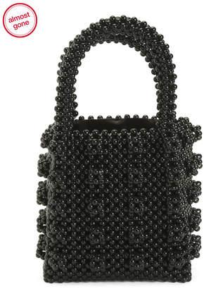 Handmade Open Tote Beaded Bag