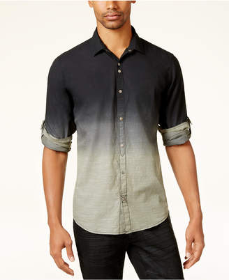 INC International Concepts I.n.c. Men's Dip-Dyed Shirt, Created for Macy's