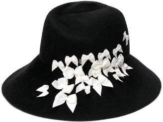 Maison Michel bow appliqué hat