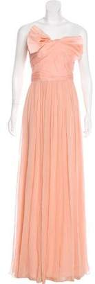 Marchesa Bow-Accented Silk Gown w/ Tags
