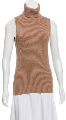 Michael Kors Wool Sleeveless Turtleneck Sweater
