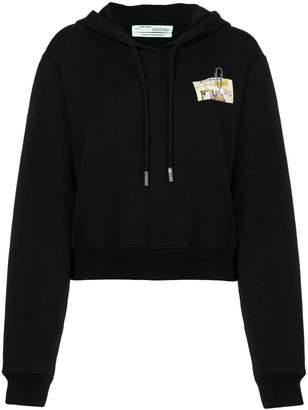 Off-White longsleeved loose hoodie