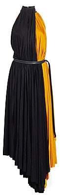 Proenza Schouler Women's Pleated Colorblock Jersey Midi Dress