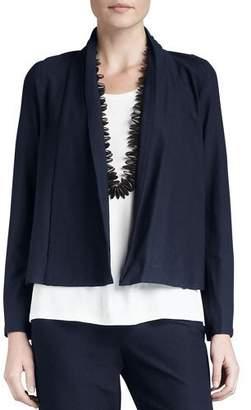 Eileen Fisher Petite Washable-Stretch Crepe Short Jacket