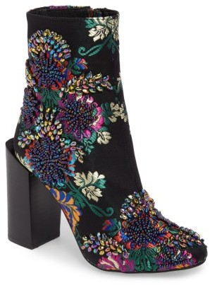 Women's Jeffrey Campbell Stratford Embellished Brocade Bootie