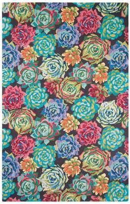 Company C Succulents Hand-Hooked Wool Rug