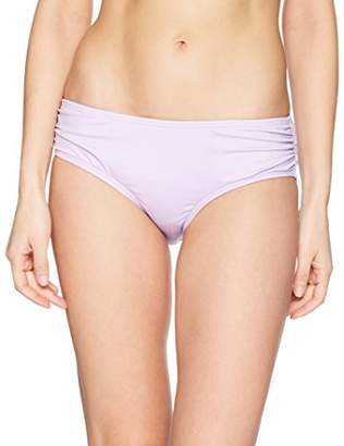 Carmen Marc Valvo Women's Bikini Bottom Swimsuit with Shirred Detail