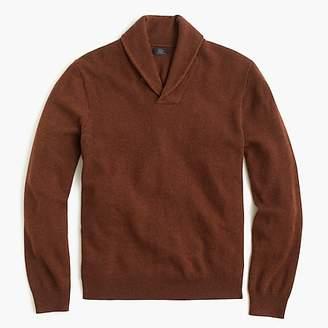 J.Crew Italian cashmere shawl-collar popover sweater