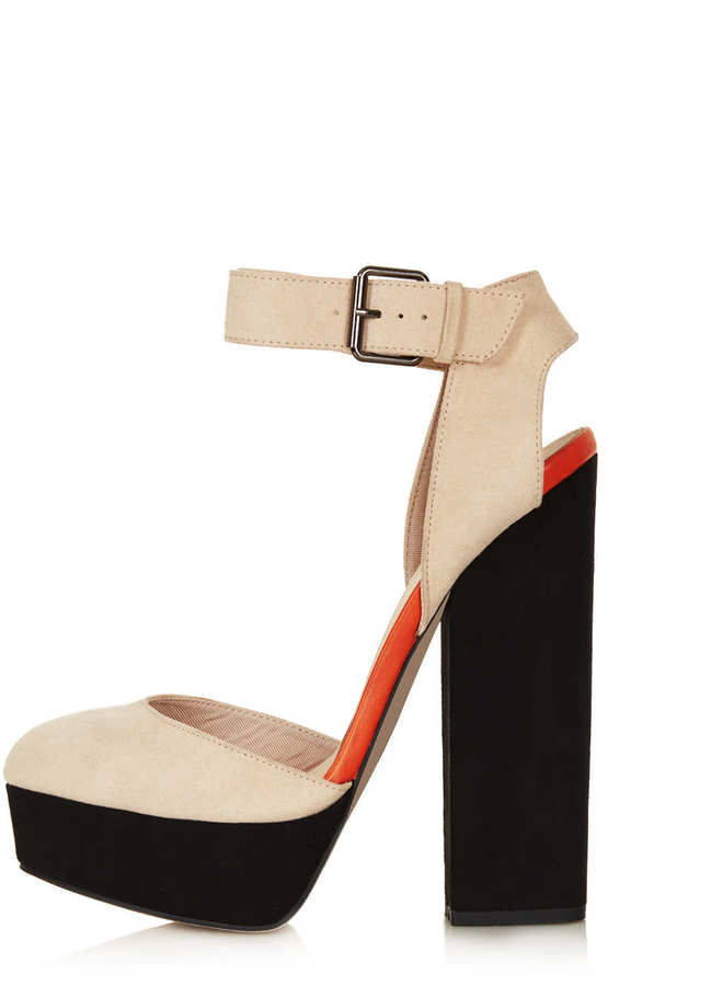Topshop SHELLY Cutout Back Platforms