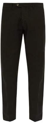 J.w.brine J.W. Brine J.w. Brine - James Straight Leg Linen Blend Trousers - Mens - Black