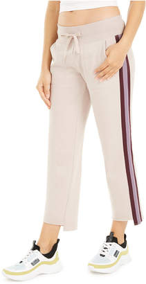 Calvin Klein Stripe Wide-Leg Step-Hem Pants