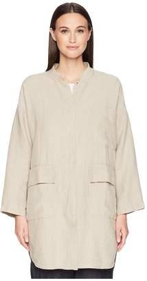Eileen Fisher Mandarin Collar Jacket Women's Coat