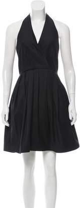 Halston Pleated Halter Dress