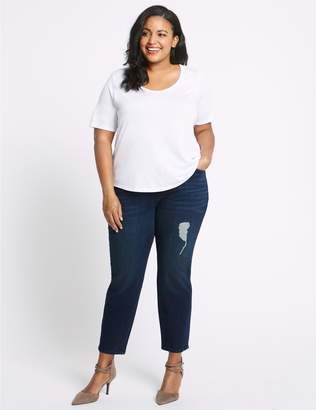 Marks and Spencer CURVE High Waist Relaxed Slim Leg Jeans