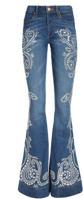 Alice + Olivia BEAUTIFUL CRYSTAL HIGH RISE JEAN