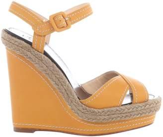Christian Louboutin Yellow Leather Heels