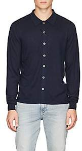 Piattelli MEN'S SILK-CASHMERE BUTTON-FRONT SHIRT