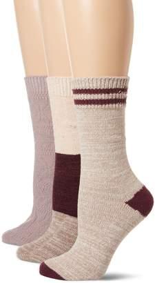 Muk Luks Women's Microfiber Boot Socks 3 Pack
