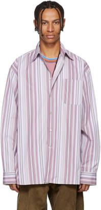 Marni (マルニ) - Marni ピンク ストライプ ポケット シャツ