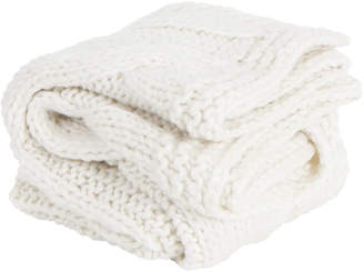 Collectivesol Ivory Chunky Claudette Knitted Blanket
