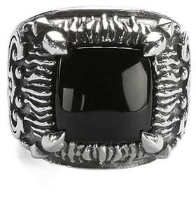 Emanuele Bicocchi Sterling Silver Onyx Ring