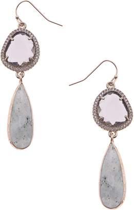 Nakamol Design Quartz & Labradorite Drop Earrings