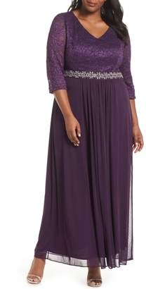 Alex Evenings Embellished Waist Gown