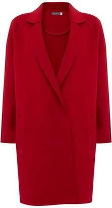 Mint Velvet Red Split Seam Relaxed Coat
