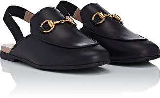 Gucci Kids' Princetown Leather Slippers