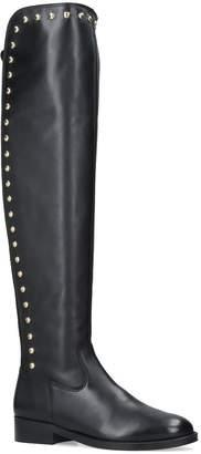 Kurt Geiger London Leather Volt Over-The-Knee Boots
