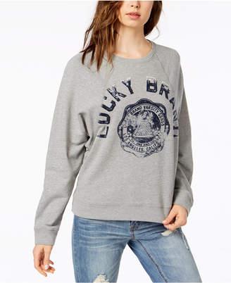 Lucky Brand Long-Sleeve Varsity Sweatshirt