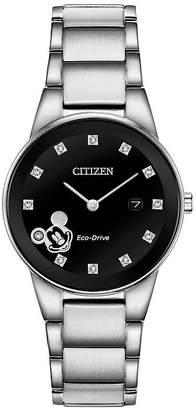 Citizen Disney Mickey Mouse Womens Silver Tone Stainless Steel Bracelet Watch-Ga1051-58w